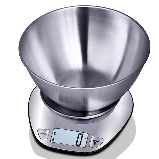 image of a metal Digital Scale at zero grams
