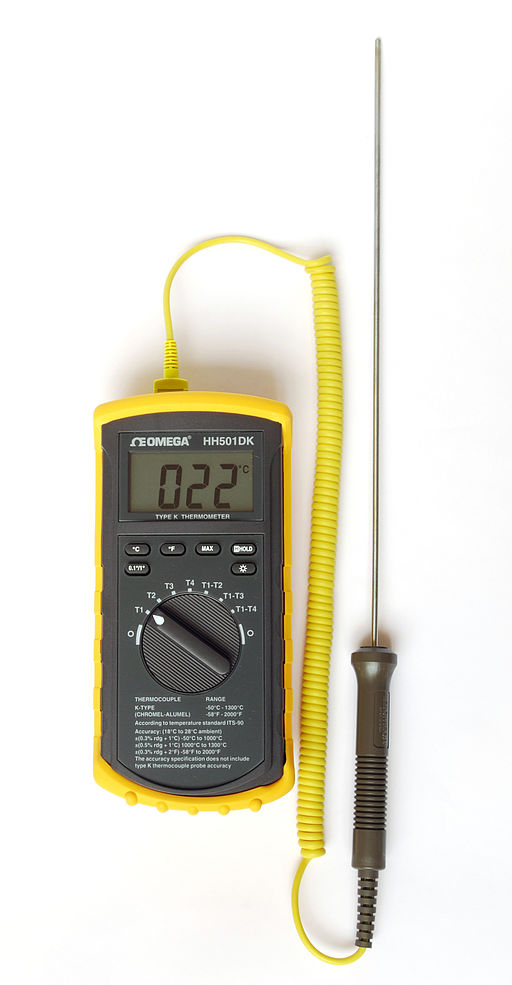 image of a yellow thermocouple