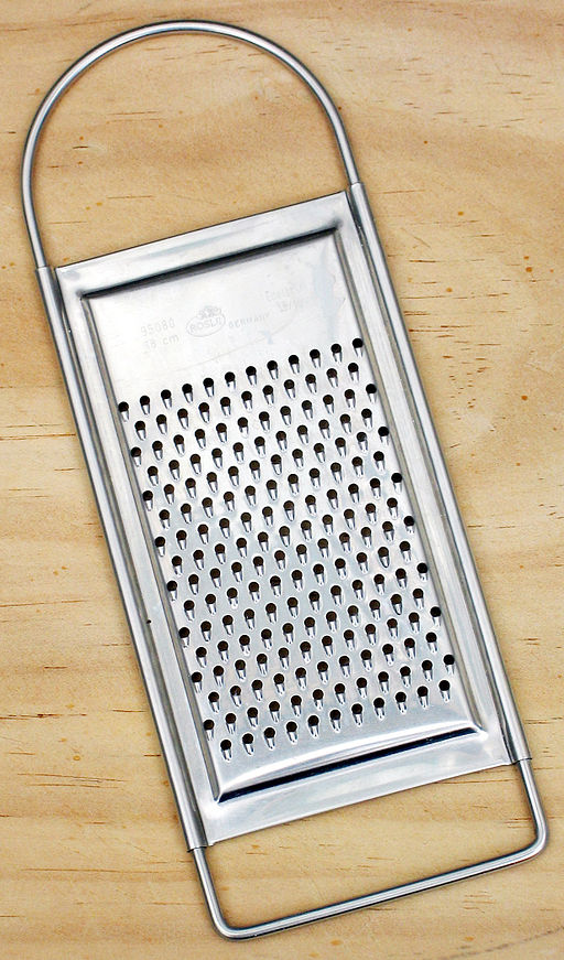 image of a metal grater