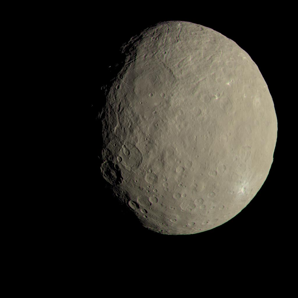 NASA Dawn Mission image of Ceres used to introduce this investigation. Image credit: NASA/JPL-Caltech/UCLA/MPS/DLR/IDA
