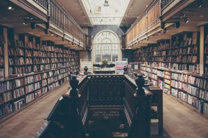 A giant academic library with only books in sight