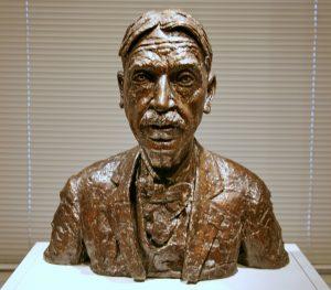 A Bronze bust of John Dewey
