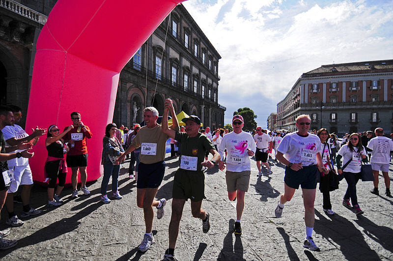 photo of runners crossing finish line