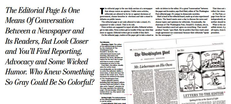 The Editorial Page of a Newspaper