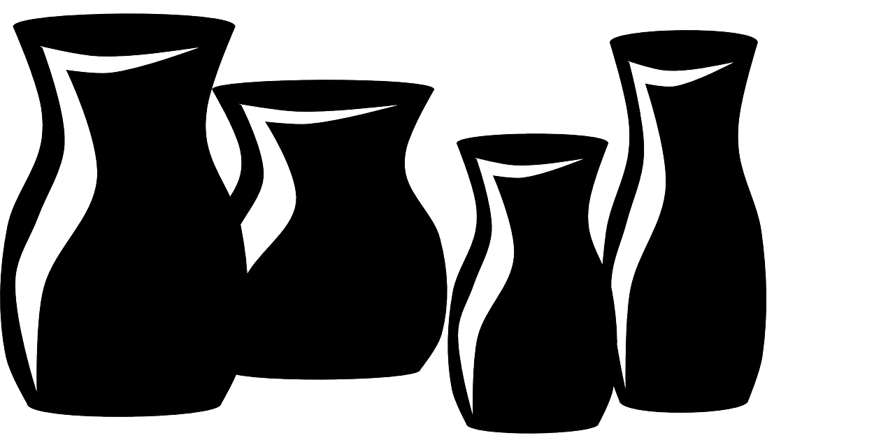 drawing of vases
