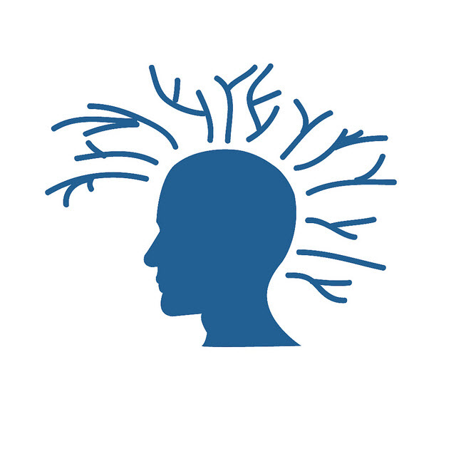 Illustration of head with ideas branching from it