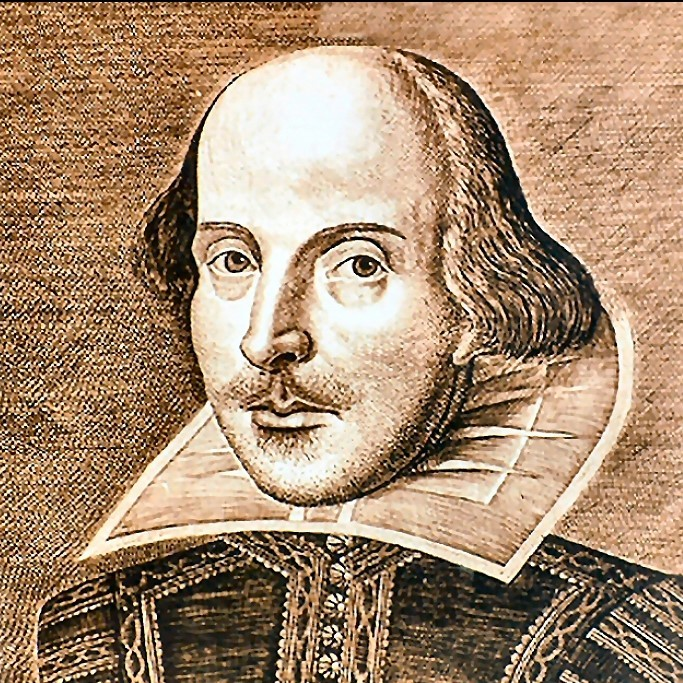 An illustration of William Shakespeare