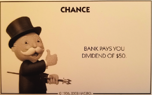 A picture of the Monopoly game Chance card.