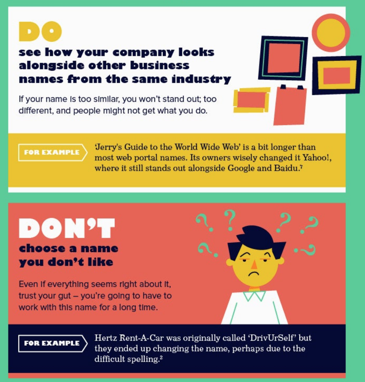 See how your name looks alongside other names from the industry. Don't choose a name you don't like.