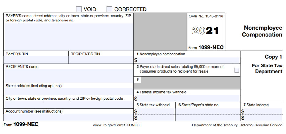 An image of the Tax Form 1099-NEC