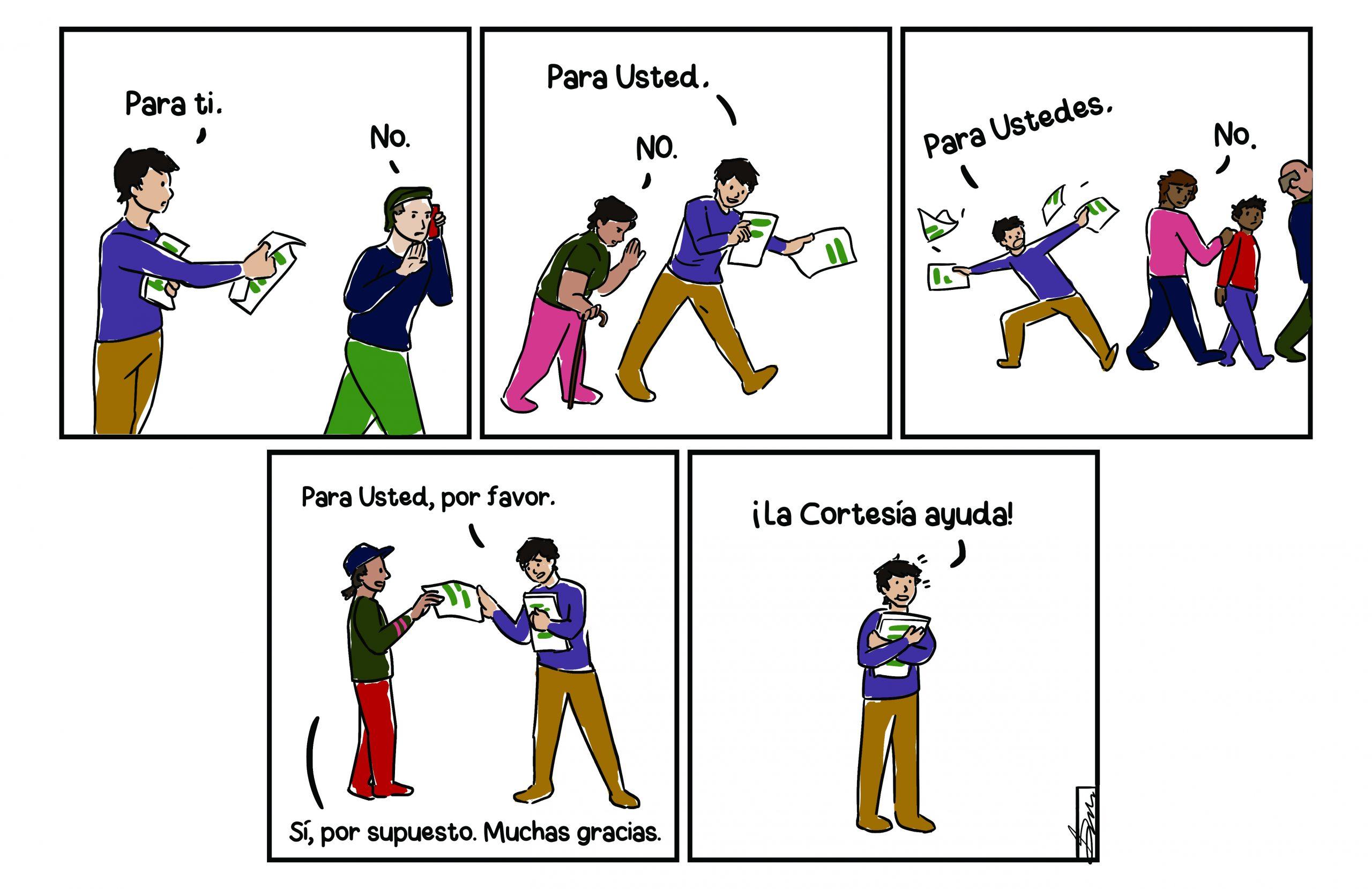 Courtesy is helpful Comic strip