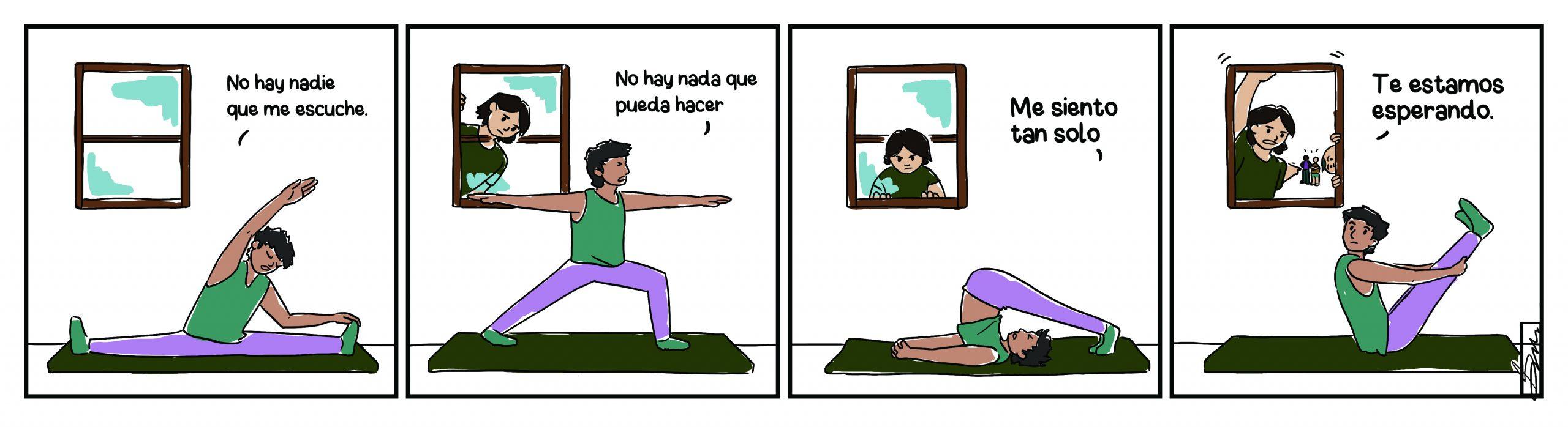 Yogi person doing yoga