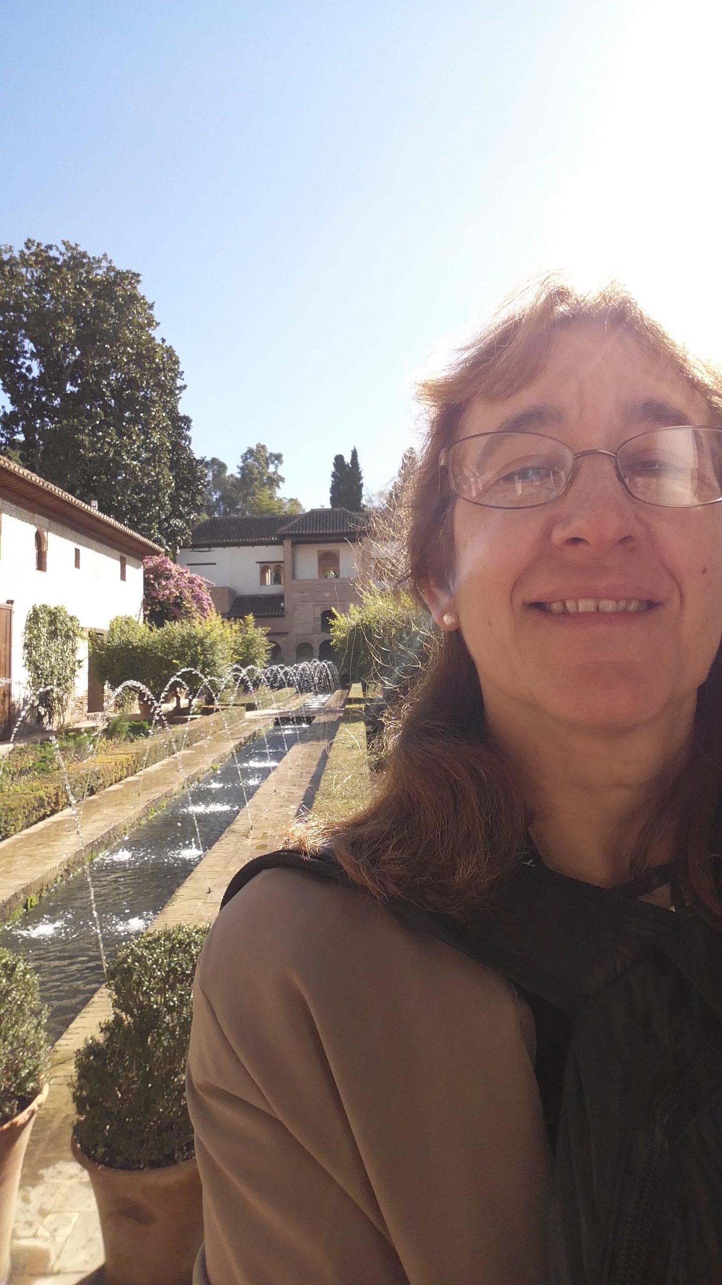 Author in La Alhambra, Spain