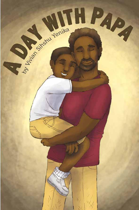 A Day with Papa by Vivian Sihshu Yenika. Father holding young son.